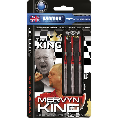 WINMAU Winmau Mervyn King steeltip dartpijlen PVD 24gr