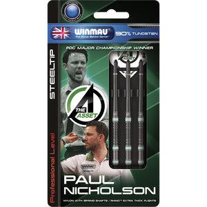 WINMAU Winmau Paul Nicholson steeltip dartpijlen onyx 20gr