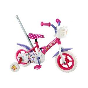 Volare Disney Minnie Bow-tique Kinderfiets - Meisjes - 10 inch - Roze/Wit/Paars