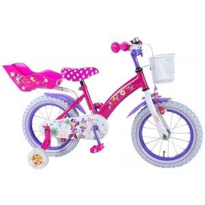 Volare Disney Minnie Bow-Tique Kinderfiets - Meisjes - 14 inch - Roze - 95% afgemonteerd