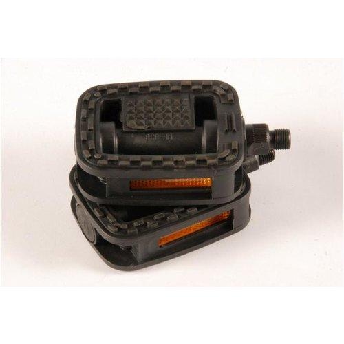 Volare Volare Fietspedalen - 2 stuks - Zwart - voor 16 inch Kinderfietsen - Trappers