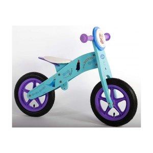 Volare Disney Frozen Houten Loopfiets - Meisjes - 12 inch - Blauw/Paars