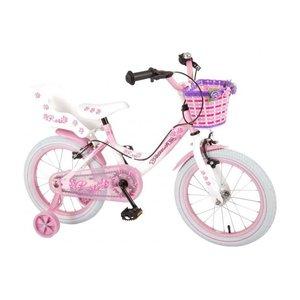 Volare Volare Rose Kinderfiets - Meisjes - 16 inch - Roze Wit - 2 handremmen