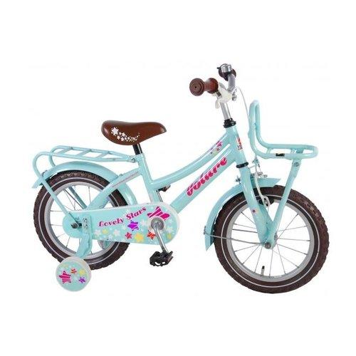 Volare Volare Lovely Stars Kinderfiets - Meisjes - 14 inch - Mint Blauw - 95% afgemonteerd