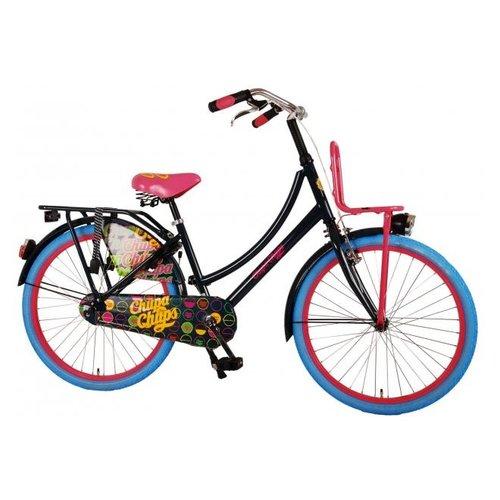 Volare Chupa Chups Oma Kinderfiets - Meisjes - 24 inch - Donker Blauw/Roze