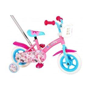 Volare OJO Kinderfiets - Meisjes - 10 inch - Roze/Blauw