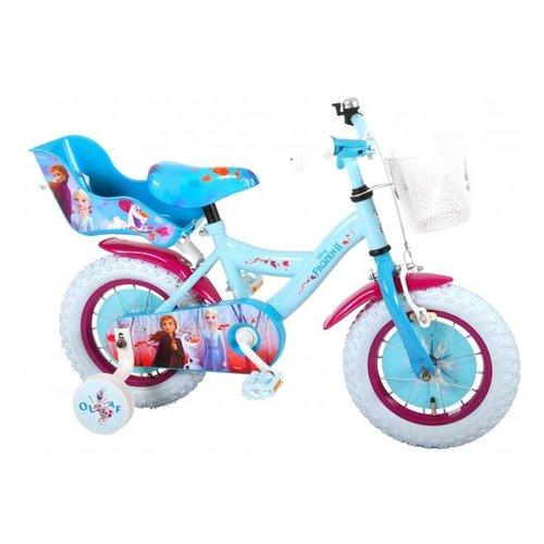 Volare Disney Frozen 2 Kinderfiets - Meisjes - 12 inch - Blauw/Paars - 95% afgemonteerd
