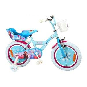 Volare Disney Frozen 2 - Kinderfiets - Meisjes - 16 inch - Blauw/Paars - 95% afgemonteerd
