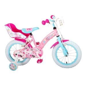 Volare OJO Kinderfiets - Meisjes - 14 inch - Roze - 2 handremmen