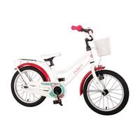 Volare Brilliant Kinderfiets - Meisjes - 16 inch - Wit - 95% afgemonteerd