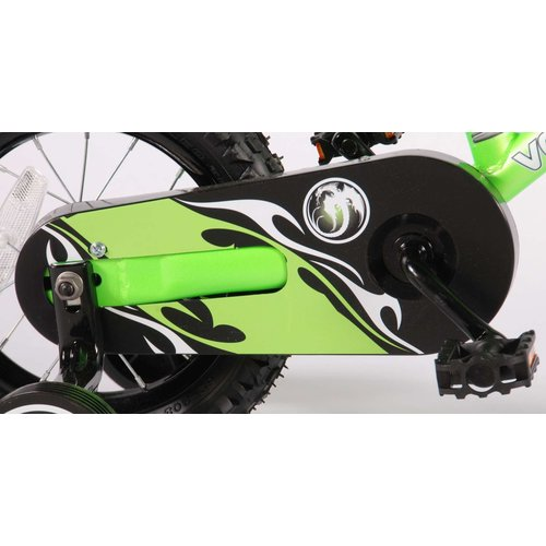 Volare Volare Motobike Kinderfiets - Jongens - 12 inch - Groen - 95% afgemonteerd