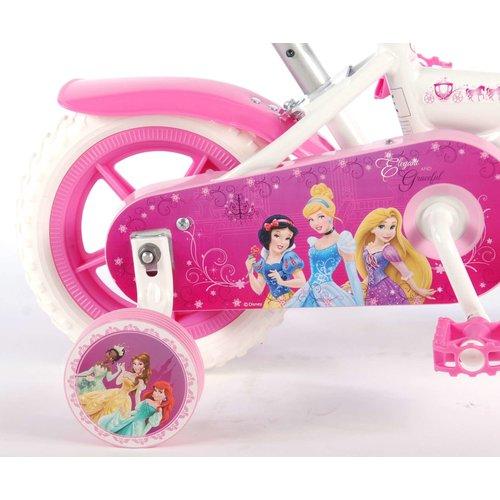 Volare Disney Princess Kinderfiets - Meisjes - 10 inch - Roze/Wit