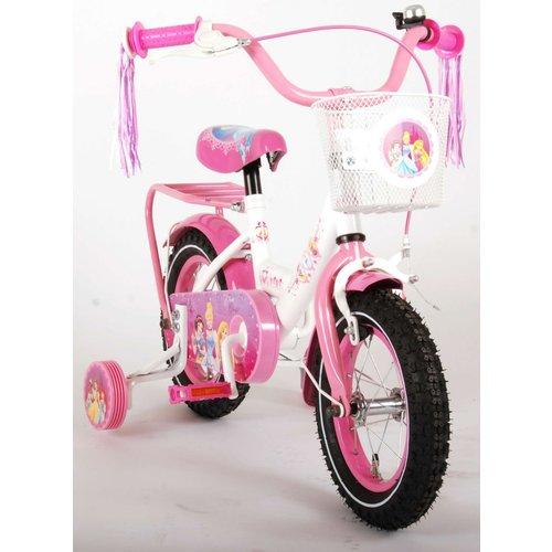 Volare Disney Princess Kinderfiets - Meisjes - 12 inch - Roze - 95% afgemonteerd
