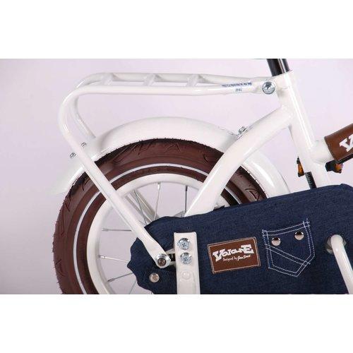 Volare Volare Urban Jeans Kinderfiets - Meisjes - 12 inch - Wit - 95% afgemonteerd