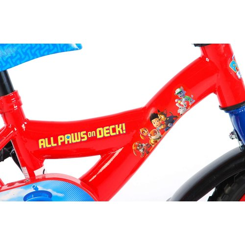 Volare Paw Patrol Kinderfiets - Jongens - 10 inch - Rood/Blauw