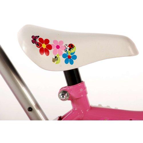Volare Yipeeh Flowerie Kinderfiets - Meisjes - 10 inch - Roze/Wit