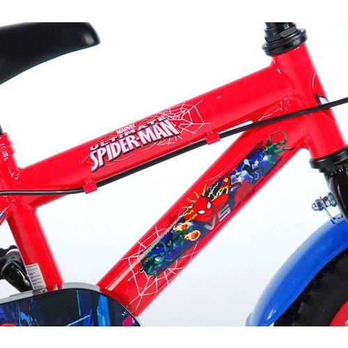 Volare Ultimate Spider-Man Kinderfiets - Jongens - 12 inch - Blauw/Rood - 2 handremmen