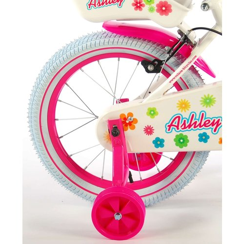Volare Volare Ashley Kinderfiets - Meisjes - 16 inch - Wit - 2 handremmen