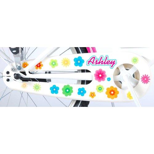 Volare Volare Ashley Kinderfiets - Meisjes- 20 inch - Wit/Roze - 95% afgemonteerd