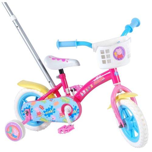 Volare Peppa Pig Kinderfiets - Meisjes - 10 inch - Roze/Blauw