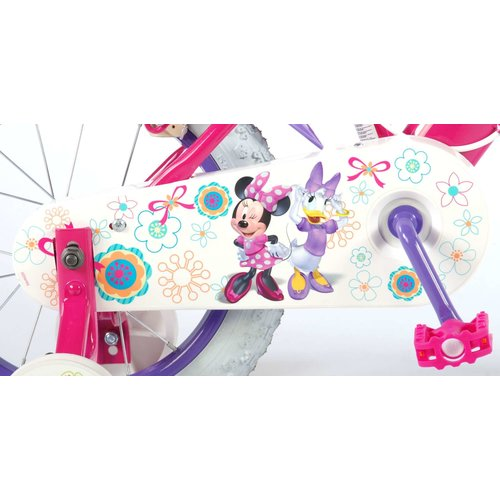 Volare Disney Minnie Bow-Tique Kinderfiets - Meisjes - 14 inch - Roze - twee handremmen