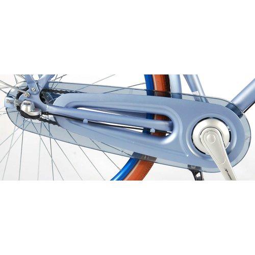 Volare SALUTONI Excellent Stadsfiets - Vrouwen - 28 inch - 56 centimeter - Mat Blauw - Shimano Nexus 3 versnellingen - 95% afgemonteerd