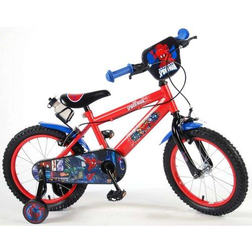 Volare Ultimate Spider-Man Kinderfiets - Jongens - 16 inch - Rood Zwart - 2 handremmen