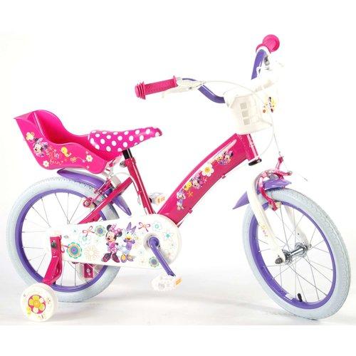 Volare Disney Minnie Bow-Tique Kinderfiets - Meisjes - 16 inch - Roze - 2 handremmen