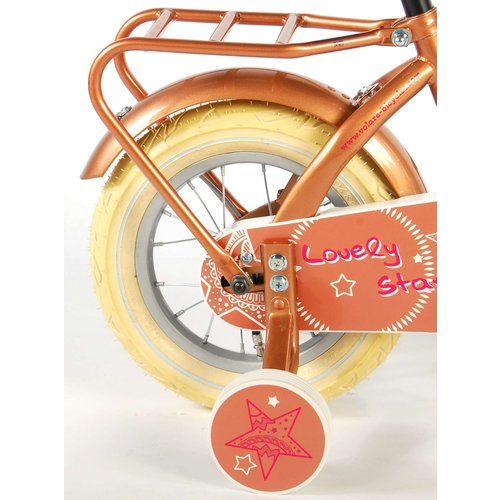 Volare Volare Lovely Stars Kinderfiets - Meisjes - 12 inch - Goud - 95% afgemonteerd