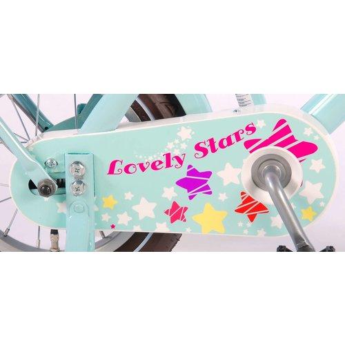 Volare Volare Lovely Stars Kinderfiets - Meisjes - 12 inch - Mint Blauw - 95% afgemonteerd