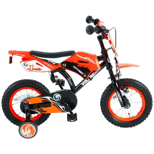 Volare Volare Motorbike Kinderfiets - Jongens - 12 inch - Oranje - 95% afgemonteerd