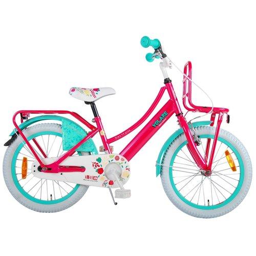 Volare Volare Ibiza Kinderfiets - Meisjes - 18 inch - Roze - 95% afgemonteerd