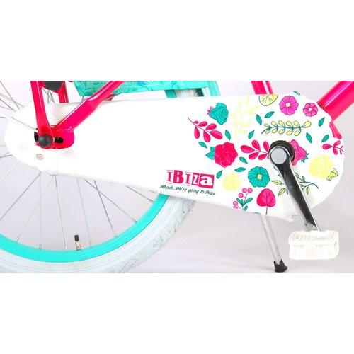 Volare Volare Ibiza Kinderfiets - Meisjes - 20 inch - Rood/Blauw - 95% afgemonteerd