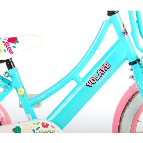 Volare Volare Ibiza Kinderfiets - Meisjes - 16 inch - Blauw - 95% afgemonteerd