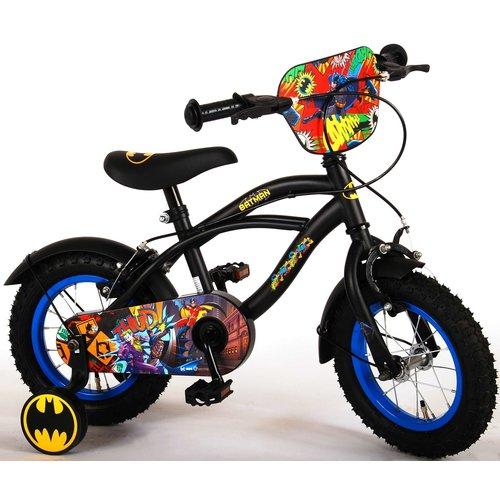 Volare Batman Kinderfiets - Jongens - 12 inch - Zwart - Twee handremmen