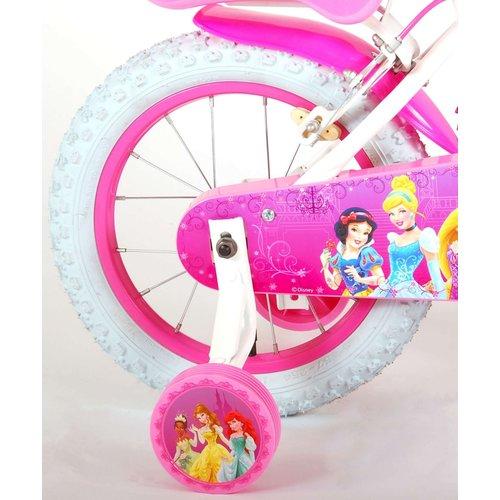 Volare Disney Princess Kinderfiets - Meisjes - 14 inch - Roze - twee handremmen