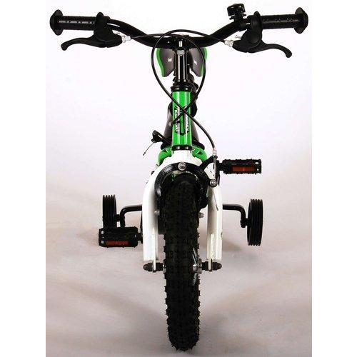 Volare Kawasaki Kinderfiets - Jongens - 12 inch - Groen/Wit - 2 handremmen