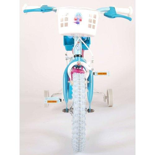 Volare Disney Frozen 2 Kinderfiets - Meisjes - 14 inch - Blauw/Paars - 2 Handremmen