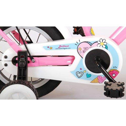 Volare Volare Brilliant Kinderfiets - Meisjes - 12 inch - Roze - 95% afgemonteerd