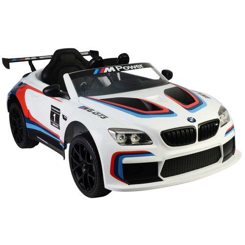 BMW BMW M6 GT3 - Wit - Elektrische Auto -  met Afstandsbediening - 12 Volt