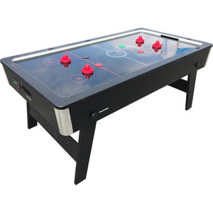 TopTable Airhockey TopTable Foldy-Carbon Black-Grey (inklapbaar) 6,5ft