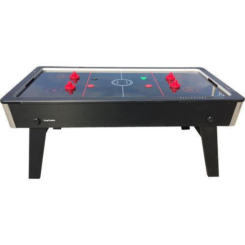 TopTable Airhockey TopTable Foldy-Carbon Black-Grey (inklapbaar) 6,5ft