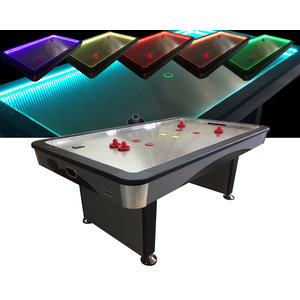 TopTable Airhockey TopTable Fast Flash Steel & Multi LED