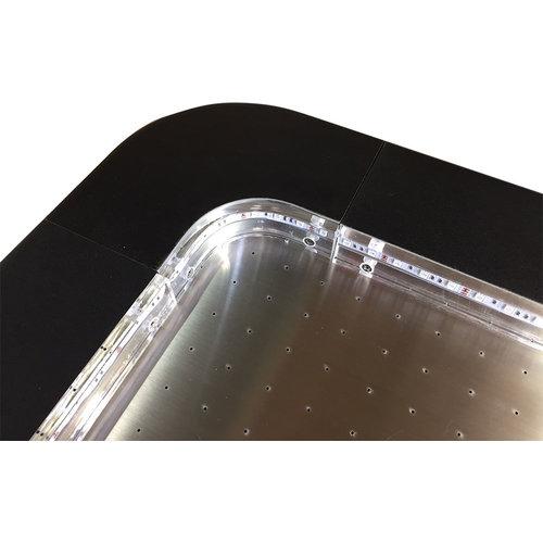 TopTable Airhockey TopTable Fast Flash Steel & Multi LED