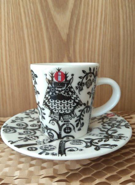 Iittala Taika espresso cup + saucer black