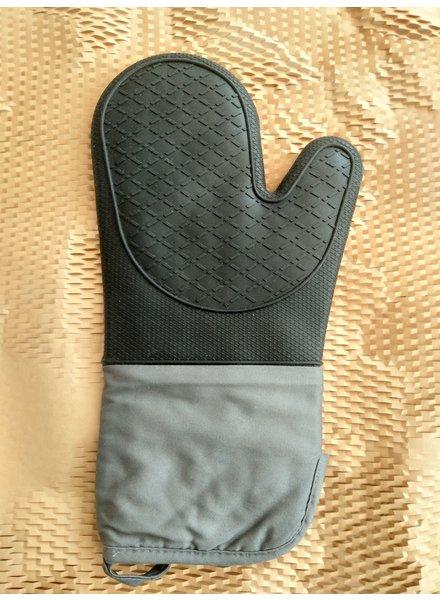 Barts taste Oven handschoen grijs zwart siliconen