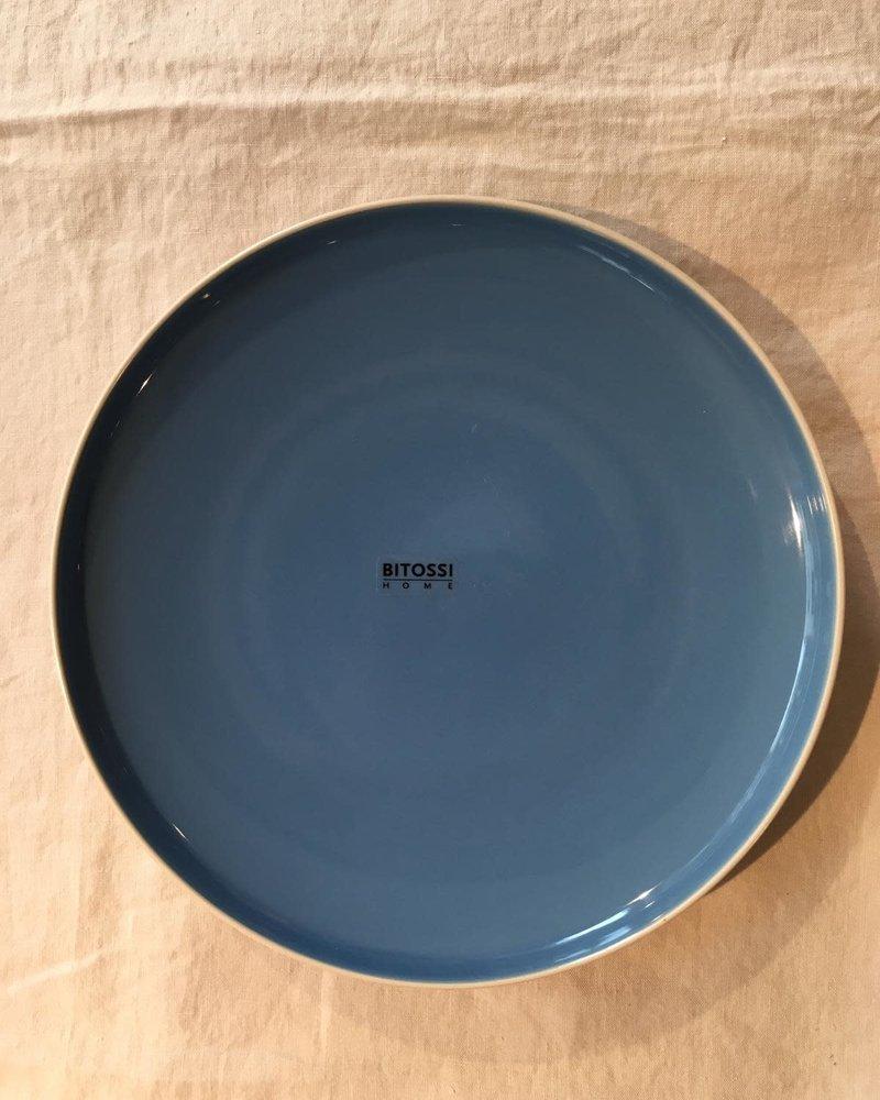 Bitossi Sorbetto diner bord 27cm  blauw