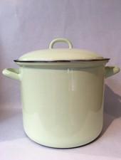 Riess Soeppan emaille 22 cm 6 liter groen