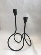 Black&Blum Loop kandelaar zwart