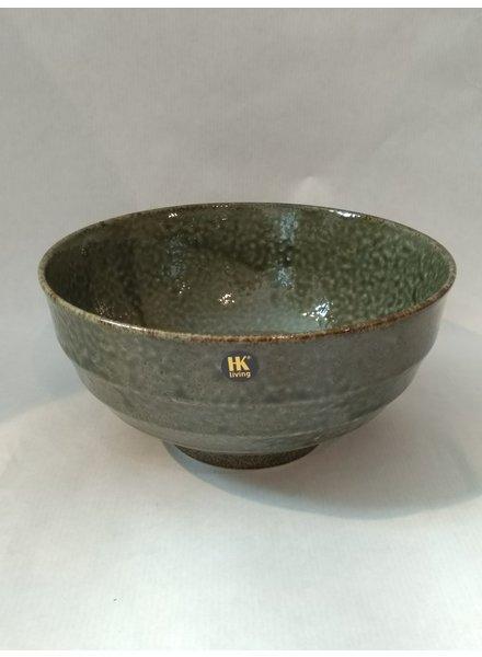 HK living Japanese ceramic noodle bowl groen